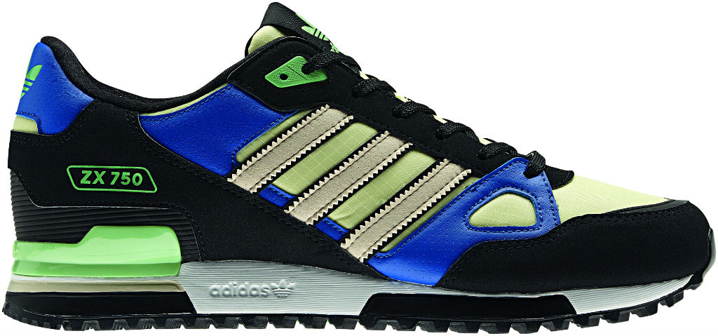 adidas Originals ZX 750 Black Blue Green Spring Summer 2013 Q23662 (1)
