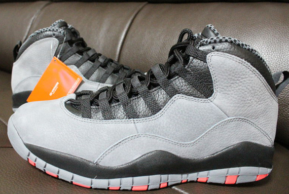 the latest 474a6 42793 Air Jordan 10 Retro - Cool Grey Infrared-Black - Detailed Images