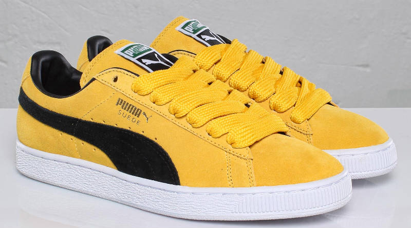 new product 8a262 1f282 PUMA Suede Classic - Yellow/Black/White/Team Gold | Sole ...