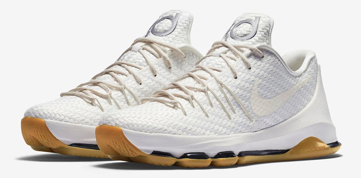 Nike KD 8 EXT White Woven 806393-100 (1)