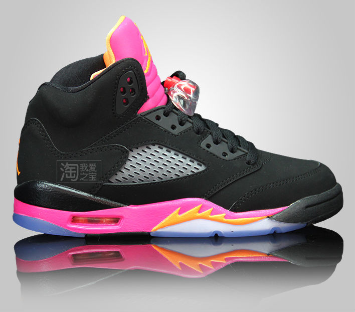 Air Jordan Retro 5 Black Citrus Pink 440892-067