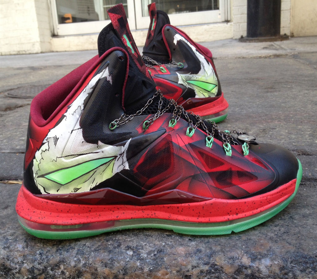 "Nike LeBron X ""Spawn"" by Mache Custom Kicks (2)"