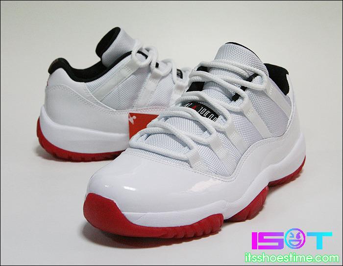 Air Jordan 11 Retro Low - White Black-Varsity Red - Detailed Look ... 7a7dda482e