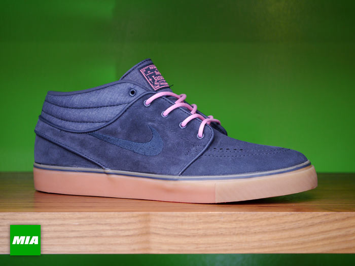 new product d99b1 75ecf Nike Skateboarding s January 2013 collection is led by the SB Stefan Janoski  in a number of clean looks including this all new mid top in blue and pink.