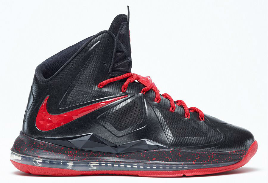 350e37648f4 Nike LeBron X+ iD - Black Red