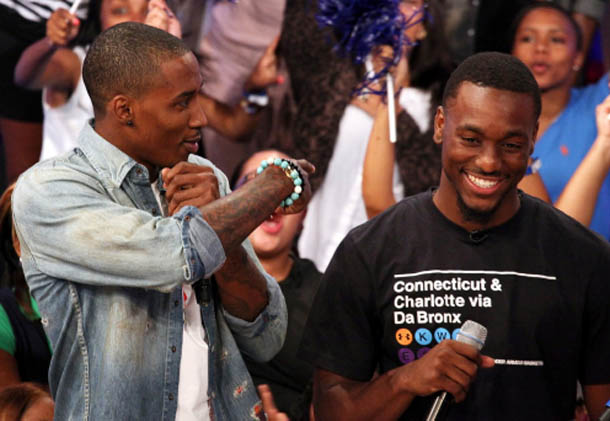 Brandon Jennings and Kemba Walker wear Under Armour on 106 & Park