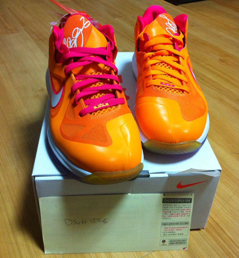 Nike LeBron 9 IX Low Floridians Vivid Orange Cherry 510811-800 (1)