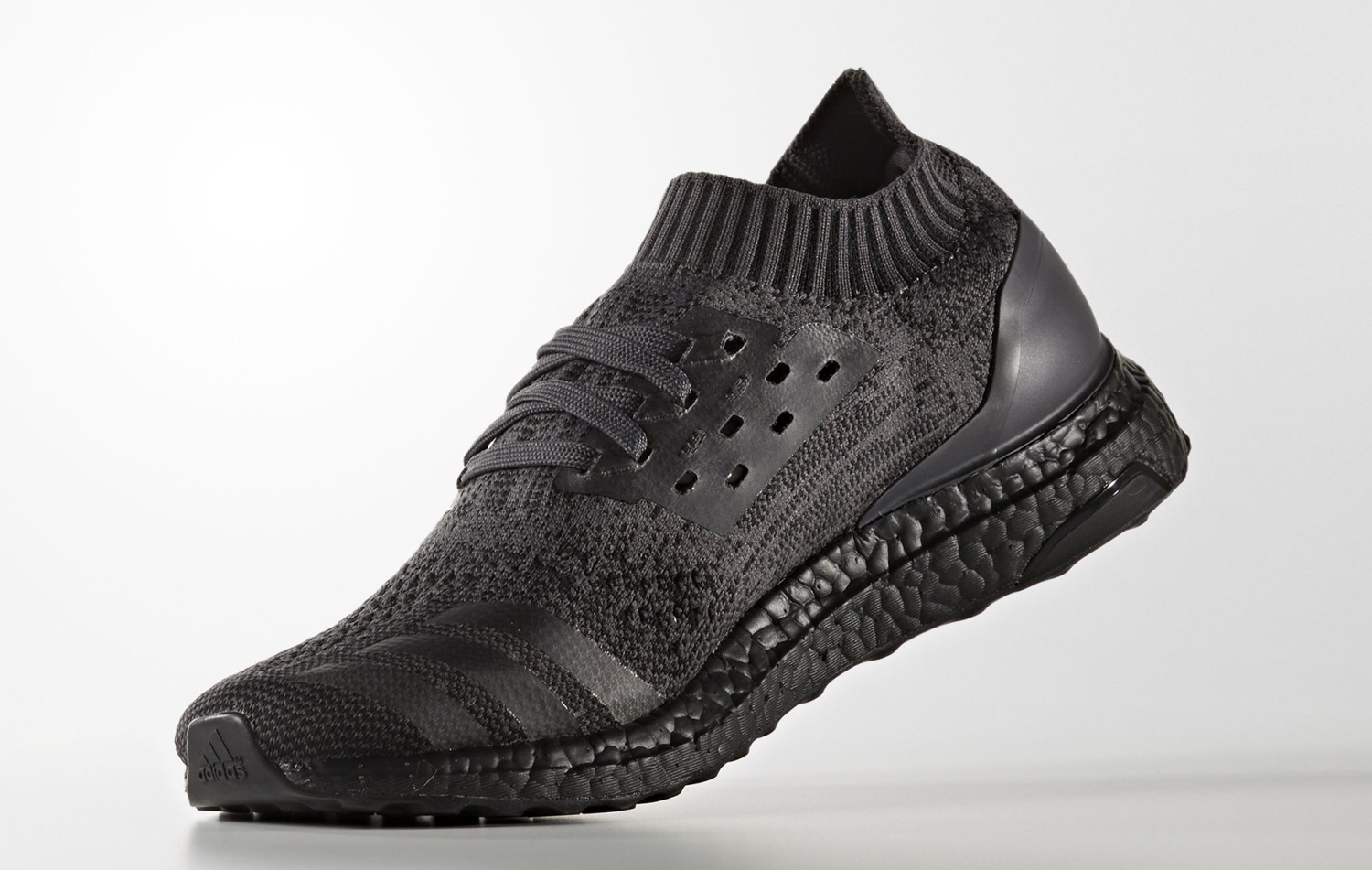 537a33e74b109 Triple Black Adidas Ultra Boost Uncaged Medial