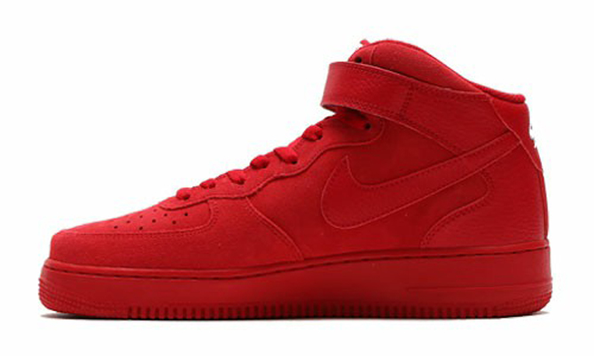 Nike Air Force 1 Mid All Red Medial