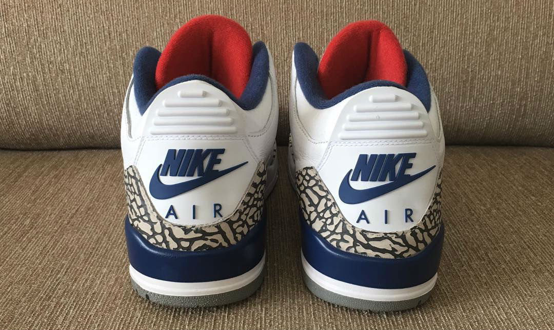 air jordan 3 true blue with tag