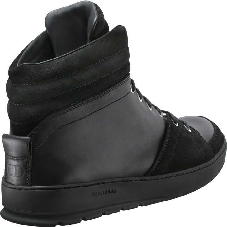 Dior Homme Black Leather and Suede High-Tops (3)