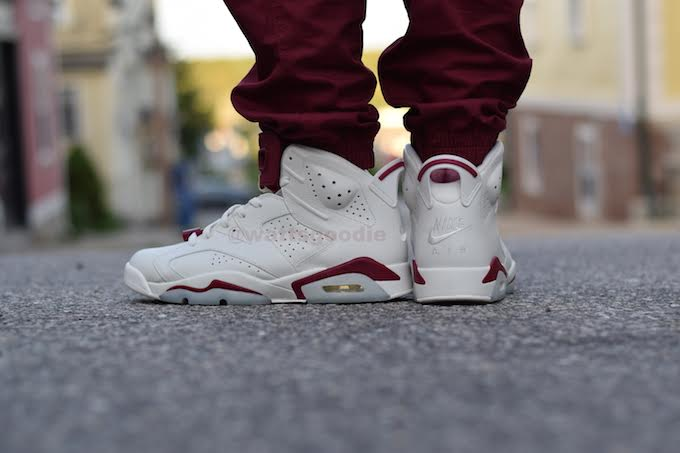 Air Jordan 6 Maroon On-Foot 384664-116 (12)