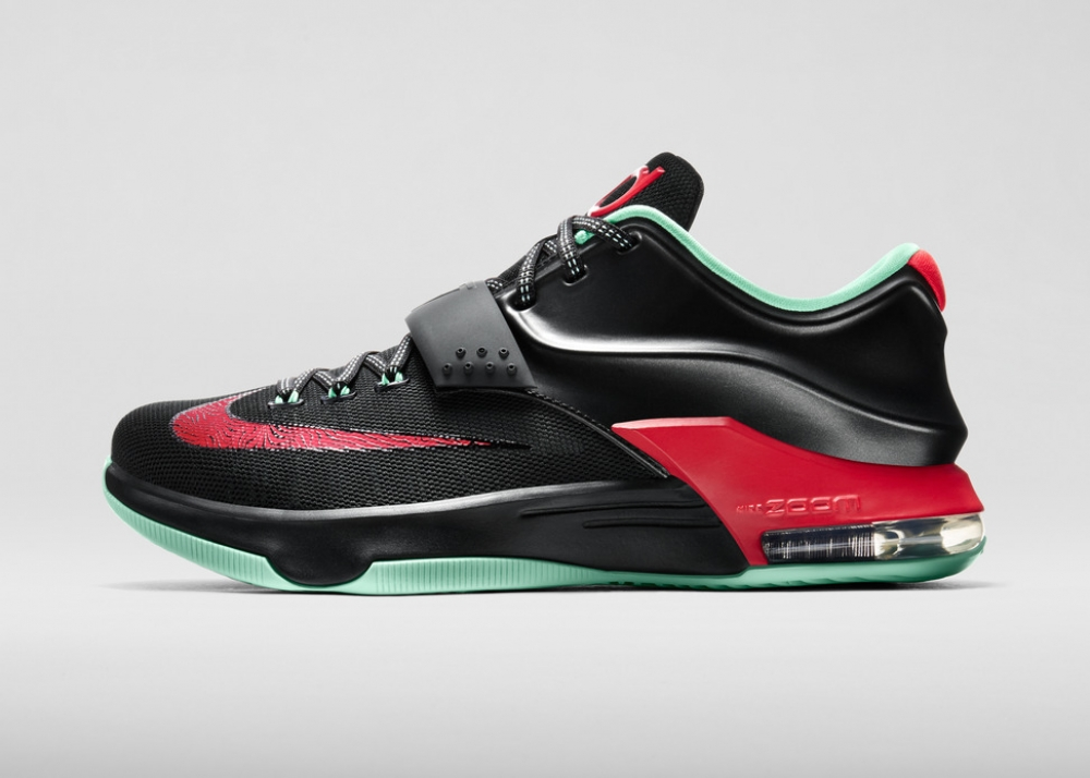 Nike KD VII Black/Action Red-Medium Mint