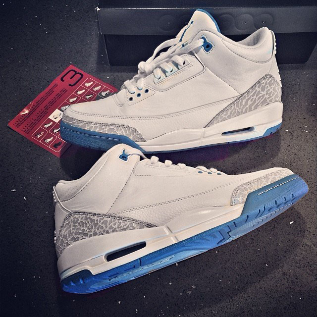DJ Skee wearing Air Jordan 3 Harbor Blue