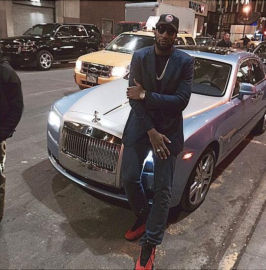 Andre Drummond wearing Air Jordan XIV 14 Ferrari 8c72937d7