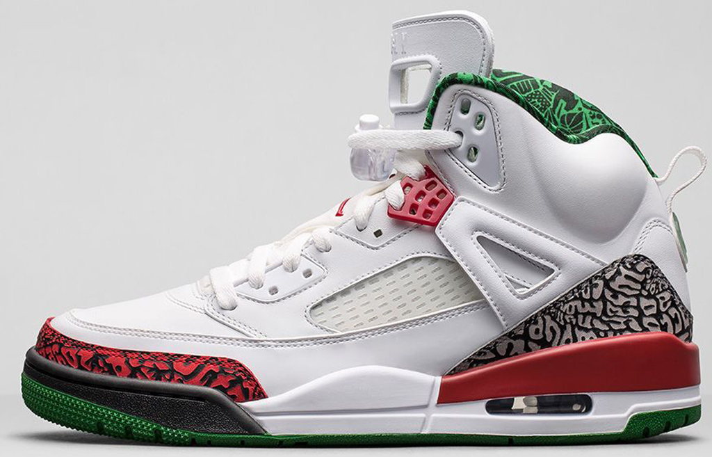 100% authentic 970f2 9e834 Jordan Spiz ike  OG  315371-125 White Varsity Red-Cement Grey-Classic Green