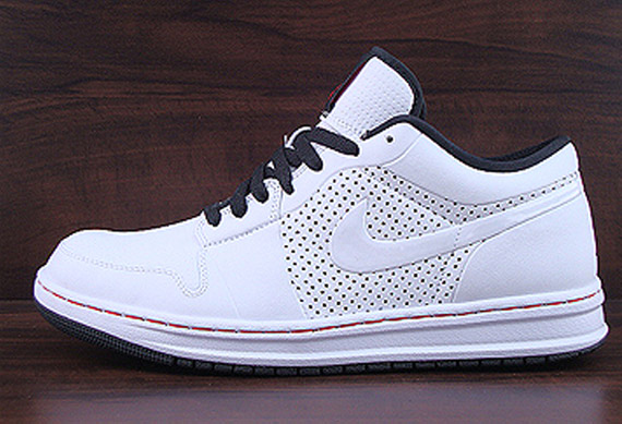 Air Jordan Alpha 1 Low - White Black-Varsity Red  cbcf51260