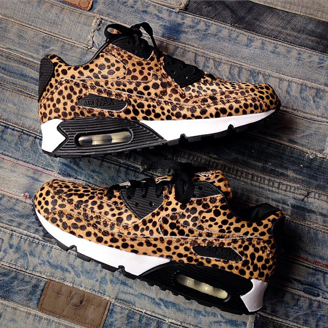 9063c105eb67 Nike Air Max 90s in Cheetah Print Pony Hair | Sole Collector