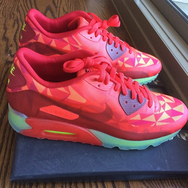 Trinidad James Picks Up Nike Air Max 90 Ice Gym Red