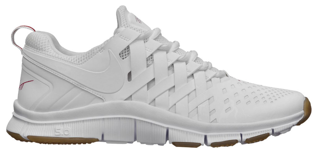 all white nike free trainers white