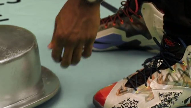 LeBron James wearing 'What The' Nike LeBron XI 11 in McDonald's Commercial