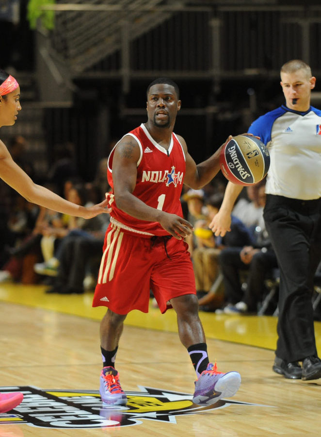 Kevin Hart wearing Jordan CP3.VII All-Star