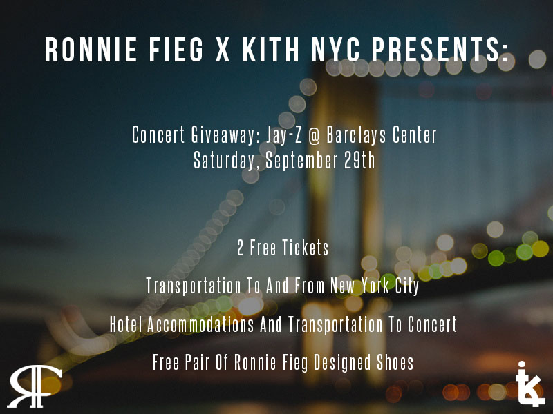 Kith NYC Jay-Z @ Barclays Ticket Giveaway