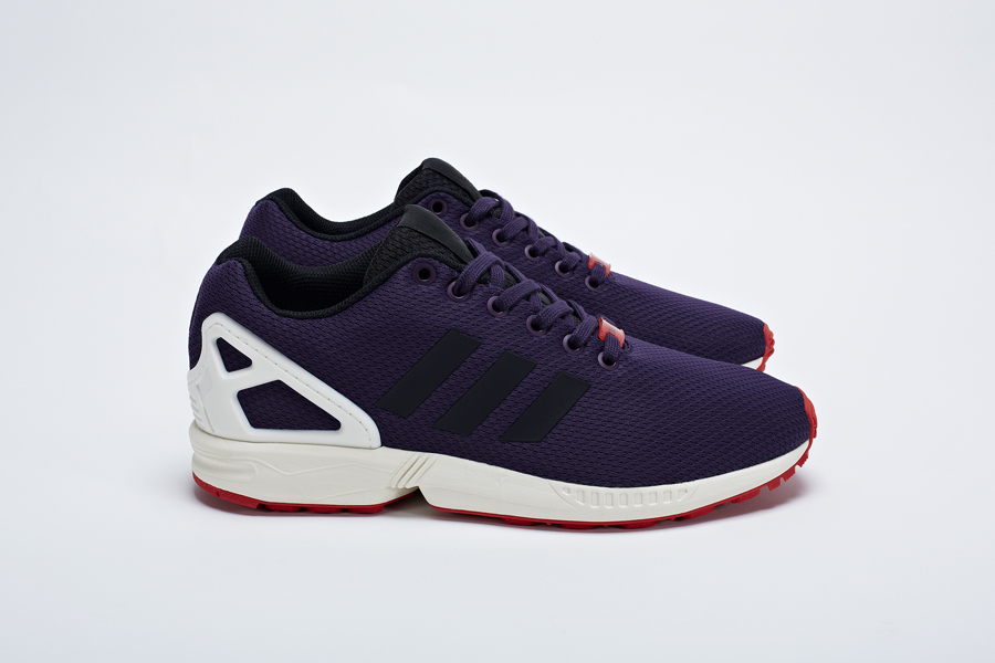 sneakers for cheap f819f a009e adidas Consortium ZX Flux 'Purple Mesh' | Sole Collector