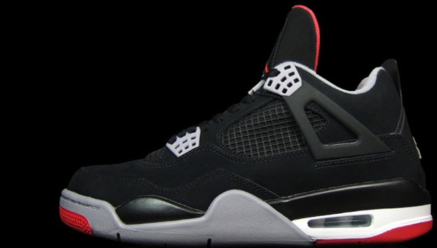 Air Jordan 4 Retro Black/Cement Grey '12