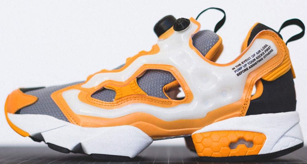Reebok Instapump Fury Foggy Grey/Team Orange-White