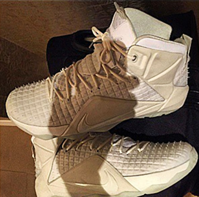 LeBron James wearing White Rubber Nike LeBron 12 (3)