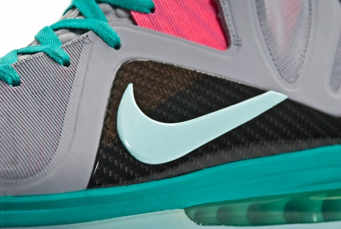 Nike LeBron 9 P.S. Elite South Beach Wolf Grey Mint Candy New Green Pink Flash 516958-001 (3)