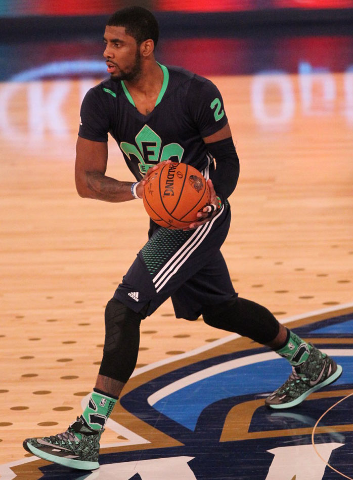 Kyrie Irving wearing Nike Zoom HyperRev All-Star PE