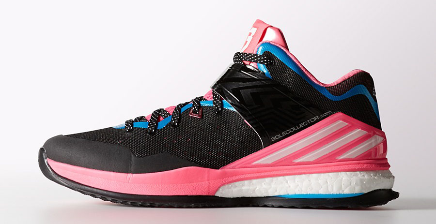 adidas RG3 Boost Trainer Black/Pink-Blue (1)