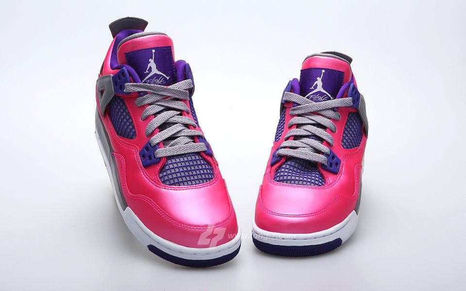 womens air jordan retro 4 pink grey