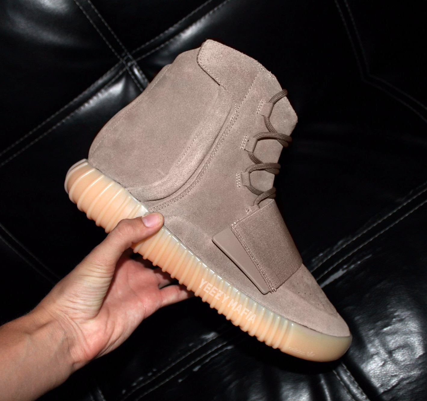 Yeezy 750 Boost Light Brown BY2456 In Hand