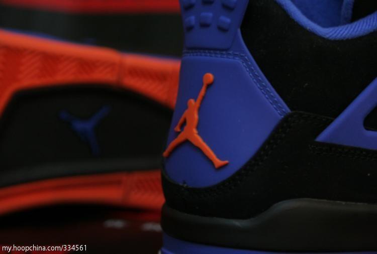 79a47dacd2a Air Jordan 4 IV Cavs Knicks Shoes Black Orange Blaze Old Royal 308497-027 (