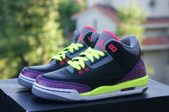 e86ab0cb62ae Stay tuned to Sole Collector for further details on the Black Purple-Volt  Air Jordan 3 Retro GS.