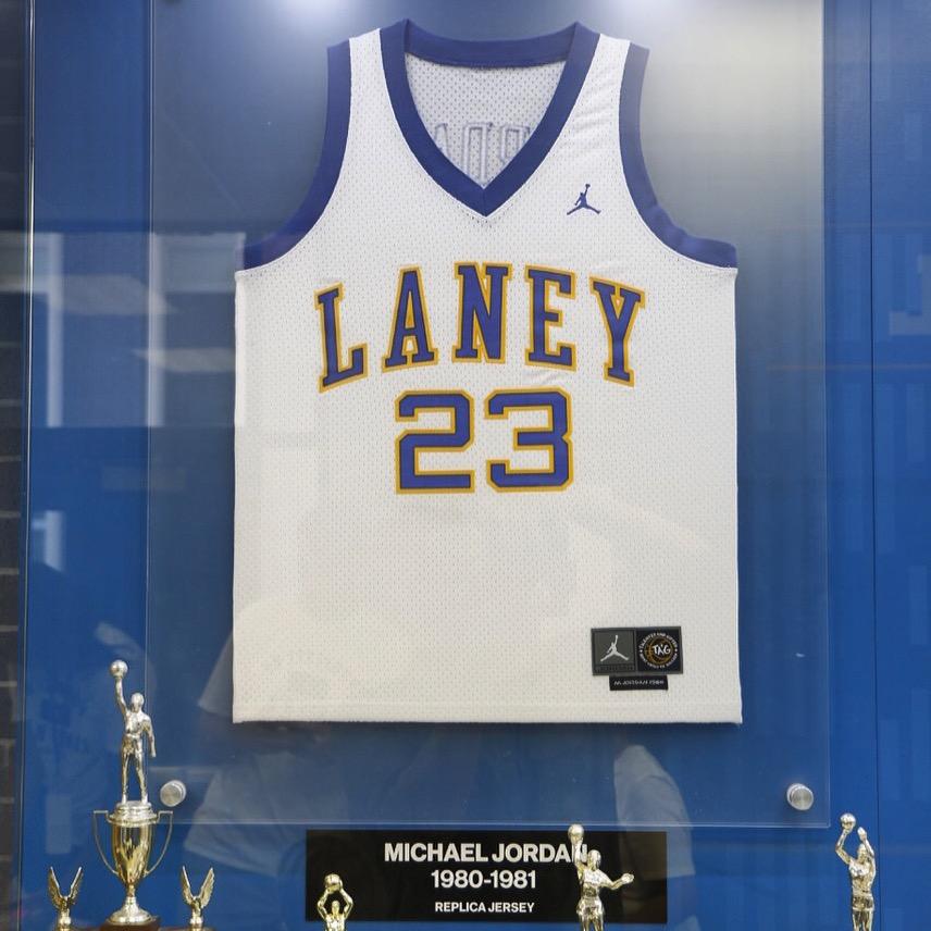 buy online 21d9d 36a77 emsley a. laney high school 23 michael jordan white jersey