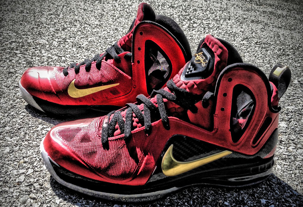 Nike lebron 9 p s elite finals by mache custom kicks for Custom elite