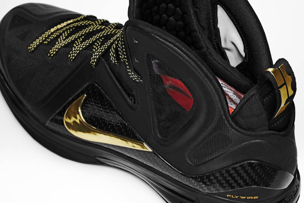 innovative design 18054 a18a8 Nike LeBron 9 Elite Away Black Metallic Gold 516958-002 (4)