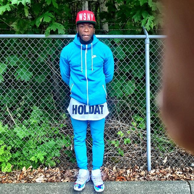 f71e19c47bd4 Nate Robinson wearing a  Smurf Gang  Air Jordan XI 11 Custom