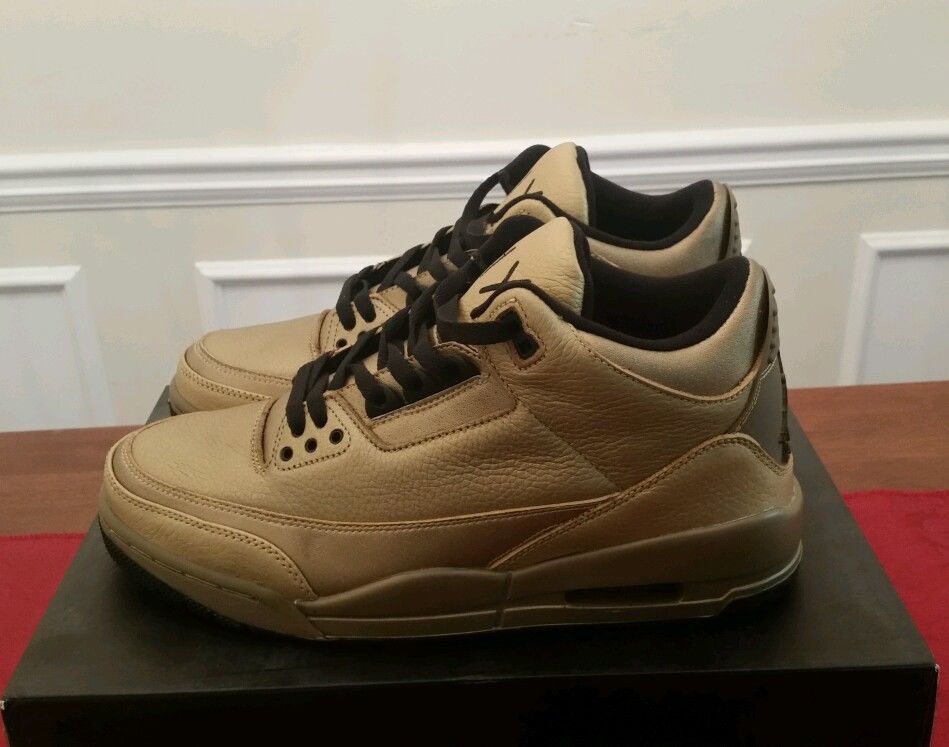 Air Jordan III 3 Drake OVO Fake Sample