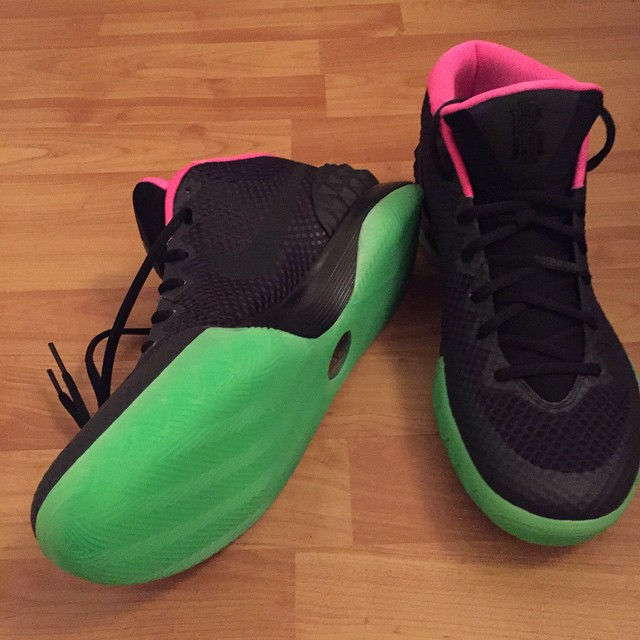 Nike Kyrie 1 ID Yeezy Inspired Black Pink Neon Green