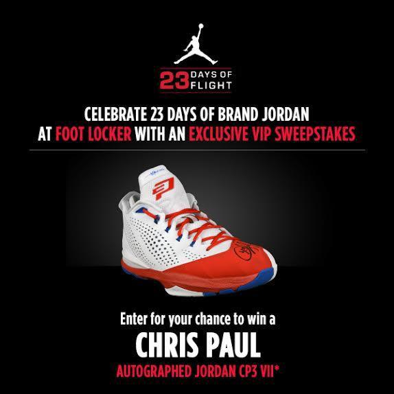 a7552b9542dc Win Chris Paul s Autographed Jordan CP3.7 from Foot Locker