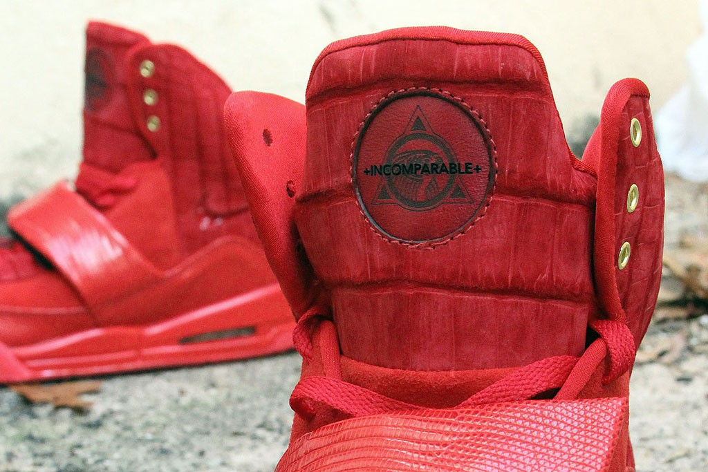 Nike Air Yeezy 'Red Croc Lizard Suede' by JBF Customs (5)