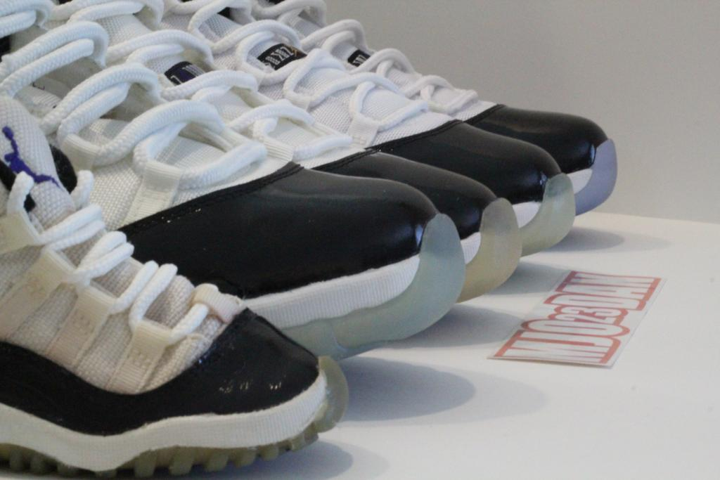 "Air Jordan XI ""Concord"" Detailed Comparison: 2011 vs. OG vs. OG Toddler. vs. DMP vs. 2000"