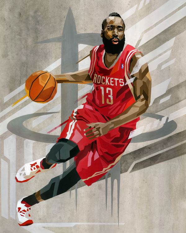 RareInk x NBA James Harden by Tadaomi Shibuya (1)
