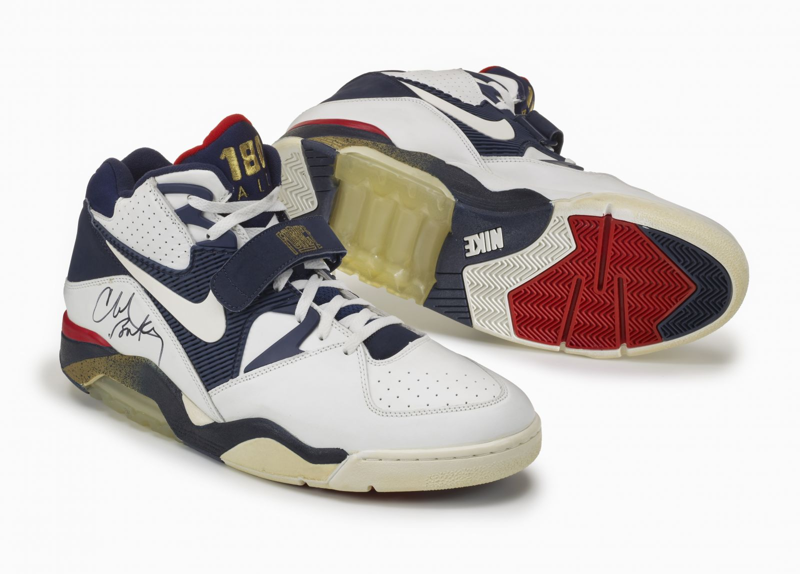 sports shoes d1ff8 659b3 Take a closer look at Sir Charles' Olympic Air Force 180, along with design  sketches by Steve McDonald in the images below.