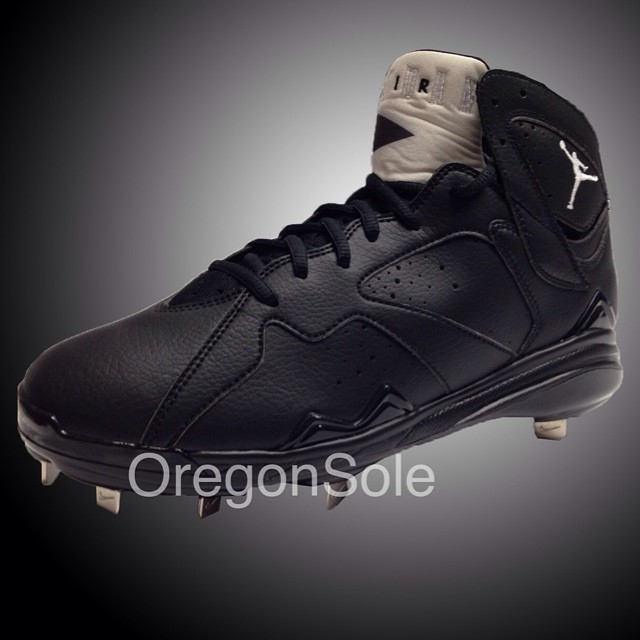Air Jordan VII 7 Cleats Black